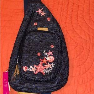 Straw sling backpack- NWT Vera Bradley